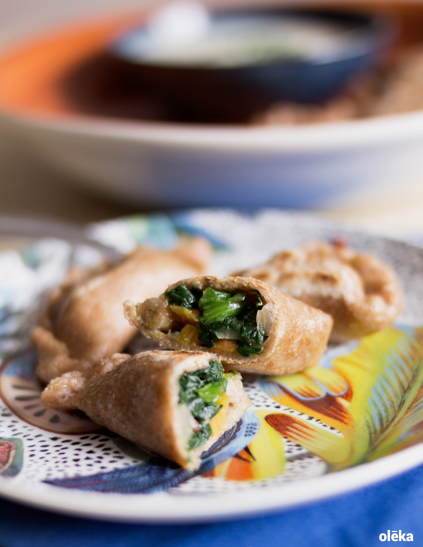 dumplings de verduras y nueces