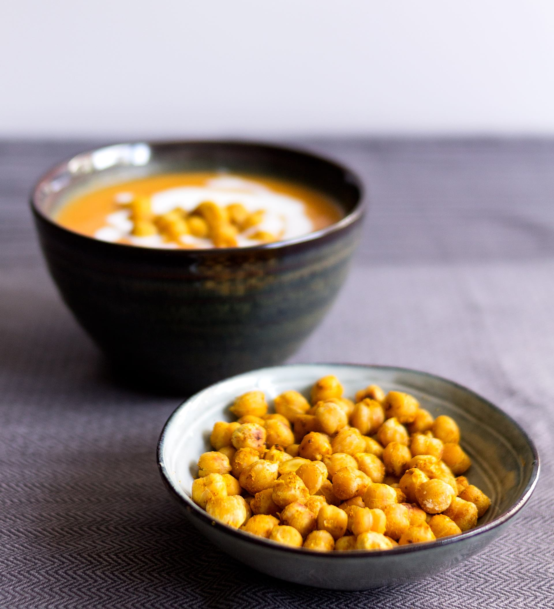 crema saludable de calabaza garbanzos