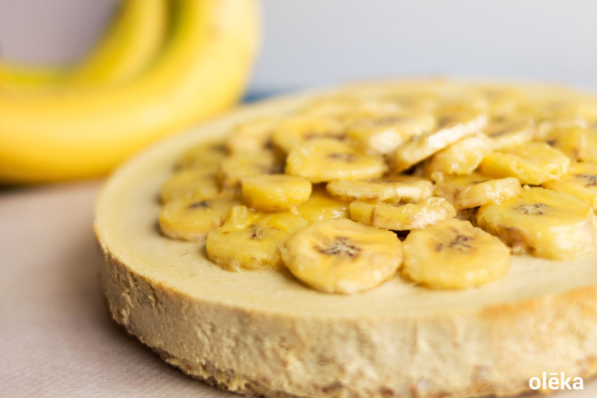 banana healthy cheescake