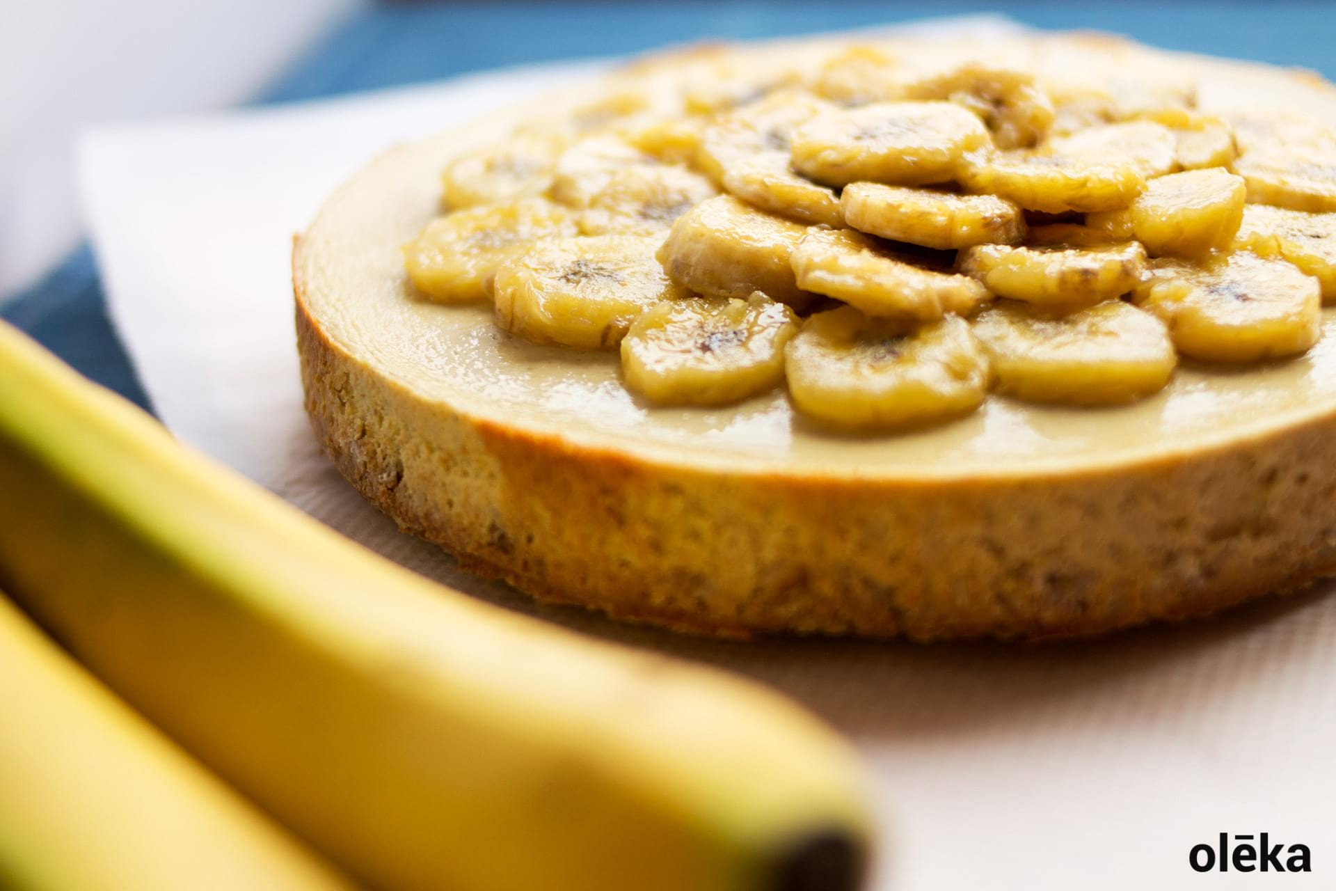 cheescake de platano saludable